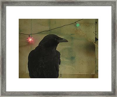 Dark Crow Celebration Framed Print by Gothicolors Donna