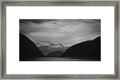 Dark Fjord Framed Print by Andy-Kim Moeller
