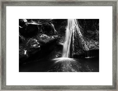 Dark Grotto Waterfalls Framed Print by Yuri Santin