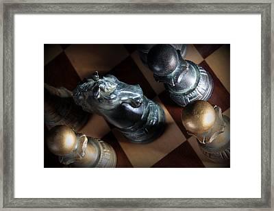 Dark Knight Framed Print by Joe Kozlowski