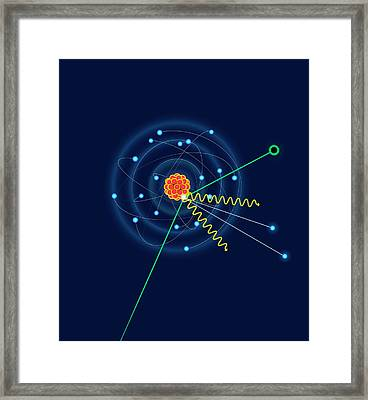 Dark Matter Colliding With An Argon Atom Framed Print by David Parker