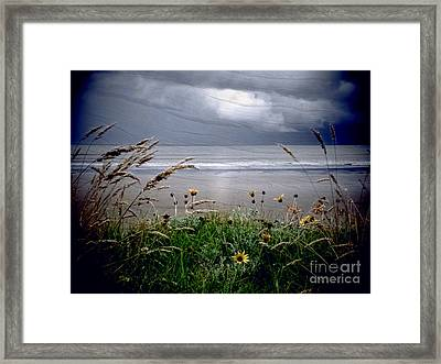 Dark Outlook Framed Print by Karen Lewis