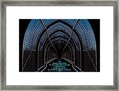 Dark Passage W Ps 23 4 Framed Print by Don Durante Jr