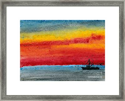 Dark Return Framed Print by R Kyllo