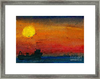 Dark Sea Framed Print by R Kyllo