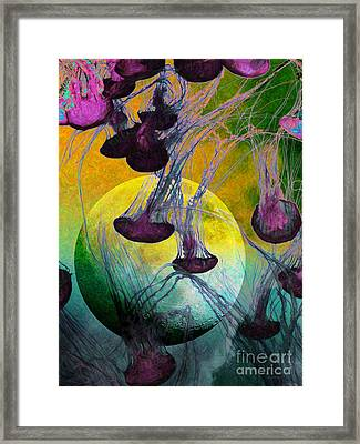 Dark Side Of The Moon 5d24939 Painterly M111 Framed Print by Wingsdomain Art and Photography