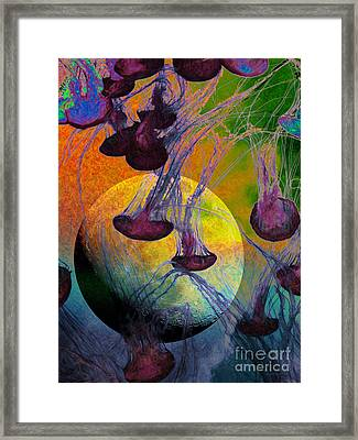 Dark Side Of The Moon 5d24939 Painterly M56 Framed Print by Wingsdomain Art and Photography