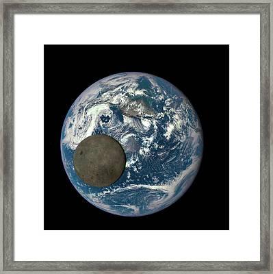 Dark Side Of The Moon Framed Print by Nasa/ Dscovr Epic Team