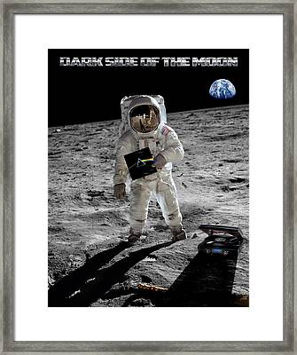 Dark Side Of The Moon Framed Print by Peter Chilelli