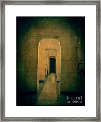 Dark Sinister Hallway Framed Print by Edward Fielding