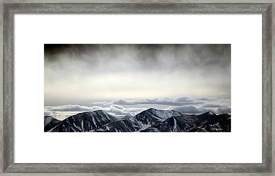 Dark Storm Cloud Mist  Framed Print by Barbara Chichester