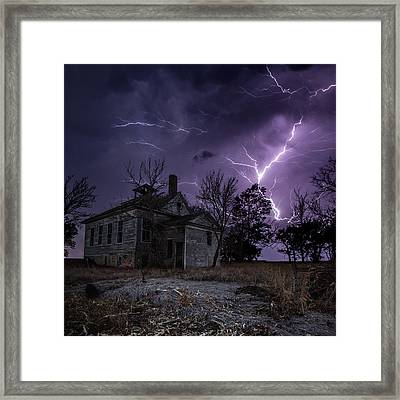 Dark Stormy Place Framed Print by Aaron J Groen