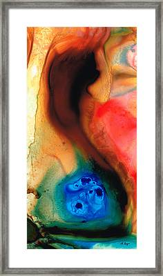 Dark Swan - Abstract Art By Sharon Cummings Framed Print by Sharon Cummings