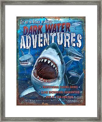 Dark Water Adventures Framed Print by JQ Licensing