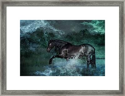 Dark Water Framed Print by Pamela Hagedoorn