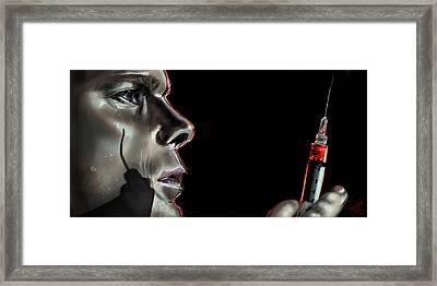 Darkly Dreaming Dexter Framed Print by Vinny John Usuriello