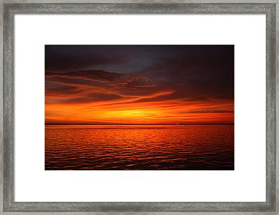 Darkness Meets Light Framed Print by Laura Hiesinger