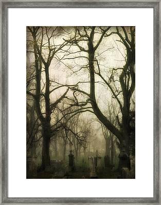 Darkness Of Fog Framed Print by Gothicolors Donna Snyder
