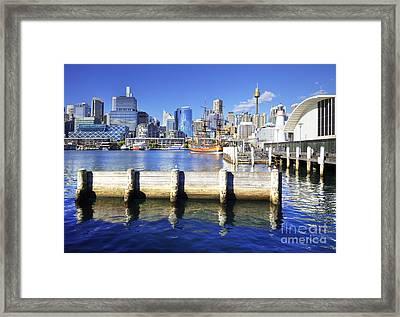 Darling Harbour Sydney Australia Framed Print by Colin and Linda McKie