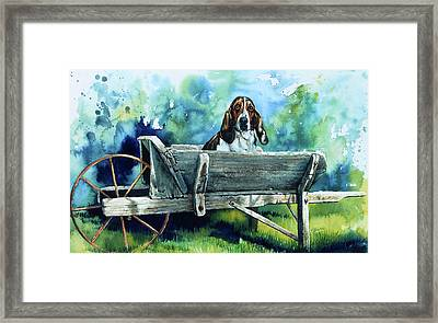 Darn Dog Days Framed Print by Hanne Lore Koehler