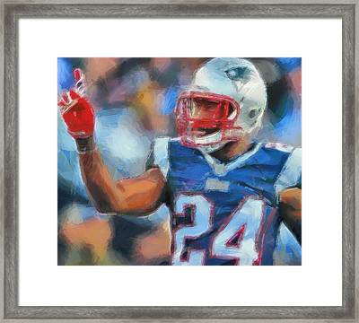 Darrelle Revis Framed Print by Dan Sproul