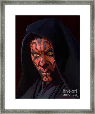 Darth Maul Framed Print by Paul Tagliamonte