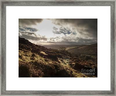 Dartmoor Drama Framed Print by Jan Bickerton