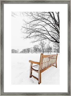 Dartmouth Winter Wonderland Framed Print by Edward Fielding