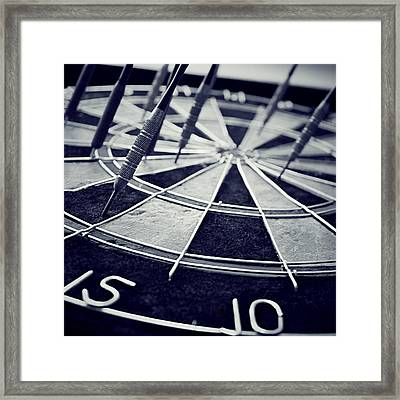 Darts Anyone Framed Print by Trish Mistric
