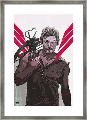 Daryl Dixon Framed Print by Jeremy Scott