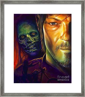 Daryl Dixon Framed Print by Scott Spillman