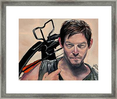 Daryl Dixon Framed Print by Tom Carlton