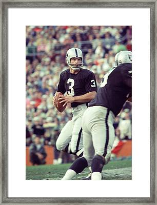 Daryle Lamonica Drops Back Framed Print by Retro Images Archive