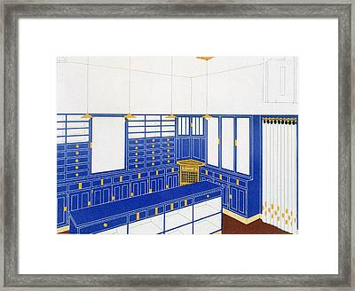 Das Interieur Iv, A Glove Shop, 1906 Framed Print by Johann Stubner