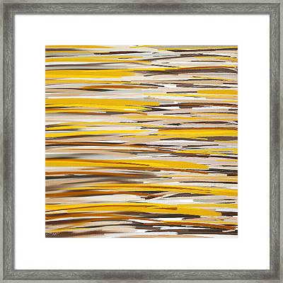 Dashes Of Sun Framed Print by Lourry Legarde