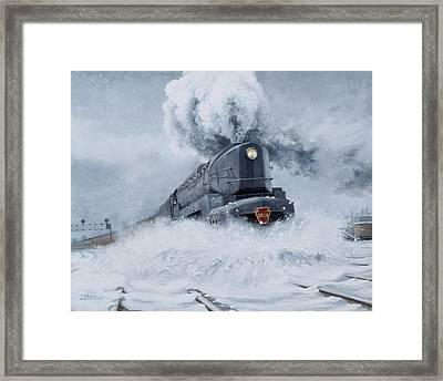 Dashing Through The Snow Framed Print by David Mittner