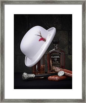 Dashing Young Man Still Life Framed Print by Tom Mc Nemar
