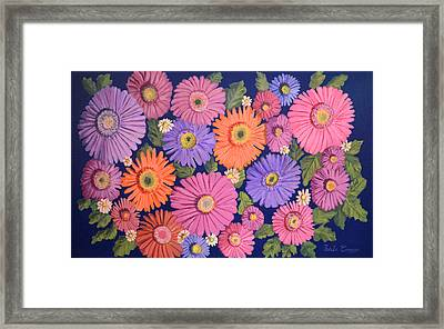 Dasies 4 Framed Print by Thecla Correya