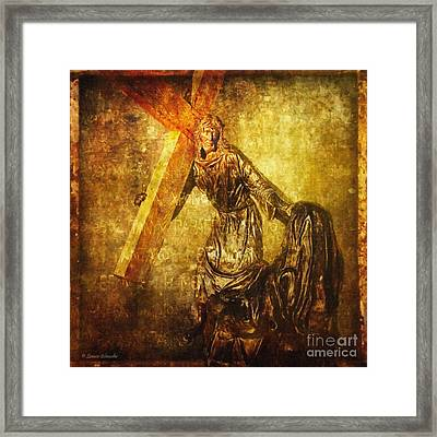 Daughters Of Jerusalem Via Dolorosa 8 Framed Print by Lianne Schneider