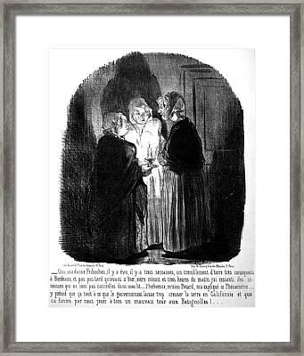 Daumier Earthquake, 1852 Framed Print by Granger