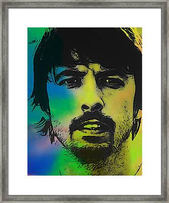 Dave Grohl  Framed Print by Dan Sproul