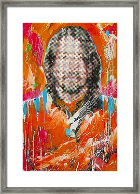 Dave Grohl Framed Print by Elliott From