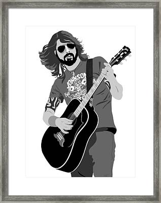 Dave Grohl Framed Print by Paul Dunkel