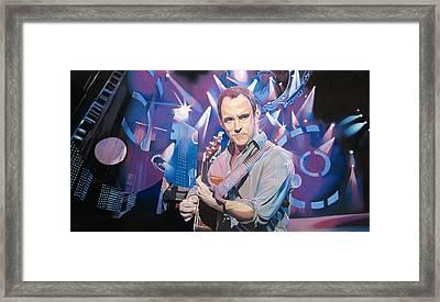 Dave Matthews And 2007 Lights Framed Print by Joshua Morton