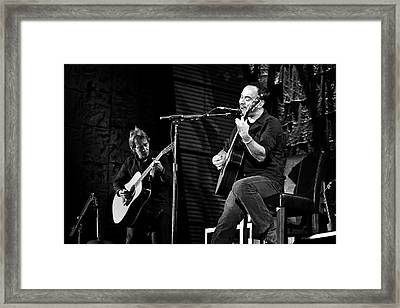 Dave Matthews And Tim Reynolds Framed Print by The  Vault - Jennifer Rondinelli Reilly