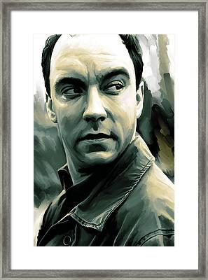 Dave Matthews Artwork Framed Print by Sheraz A
