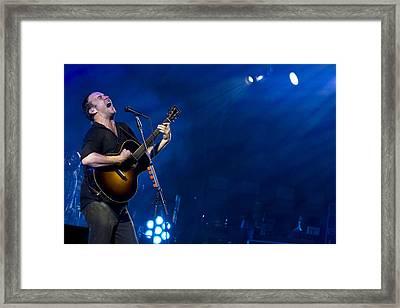 Dave Matthews At Alpine Valley Framed Print by Shawn Everhart