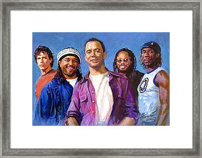 Dave Matthews Band Framed Print by Viola El