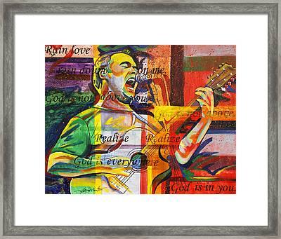 Dave Matthews-bartender Framed Print by Joshua Morton