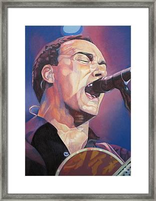 Dave Matthews Colorful Full Band Series Framed Print by Joshua Morton